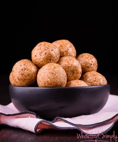 Date, Coconut and Chocolate Free Bliss Balls. Simple, delicious and free from gluten, grains, dairy, egg and refined sugar. Enjoy.