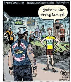 Beware biker bars  #bikerbar #cycling #fearthelycra