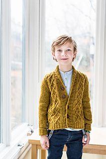 "Brooklyn Tweed pattern ""Arlo"" child's cabled cardigan $7"