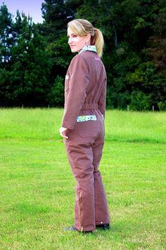 Ladies Insulated Coveralls - made for gals! - genius idea