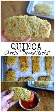 Cheesy Quinoa 'Breadsticks' - delicious & healthy -  and kids love them!