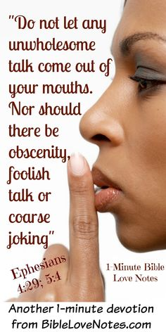 The F-Word and Ephesians 4:29. Have we Christians forgotten that Jesus wants to be Lord of our speech?