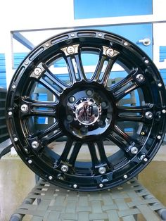 KMC Wheels  (Used 20 Inch Black Rims, XD Hoss)