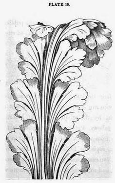 AKANT, występuje w różnych formach na przełomie XVII i XVIII wieku. Bujny akant o plastycznych, mięsistych liściach, pojawia się około 1680 roku. Ok. 1700 roku akant staje się bardziej płaski i w formie suchego akantu utrzymuje się do 1720 roku. Od ok. 1725 roku pojawia się akant płomienisty.