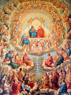 """Blessed Feast Day of All our Saints! – November 1 The earliest certain observance of a feast in honour of all the saints is an early fourth-century commemoration of """"all the martyrs."""" In the early seventh century, after successive waves of invaders. Catholic Pictures, Jesus Pictures, Catholic Art, Catholic Saints, Roman Catholic, Religious Images, Religious Art, All Souls Day, All Saints Day"""