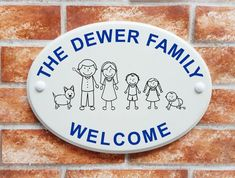 Give your home curb appeal with personalised house names or address plaques. Large collection of house signs in various shapes, sizes, materials & colours. Stick Family, House Names, House Signs, Address Plaque, Family Signs, Decorative Plates, Colours, People, Home Decor