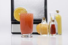 Oranges, grenadine, the liquor of your choice, and nugget ice make for a great summer concoction. Nugget Ice Maker, Hurricane Glass, Liquor, Product Launch, Canning, Tableware, How To Make, Summer, House