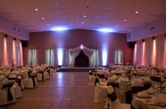 Beautiful Roman Columns come with all of our wedding packages!