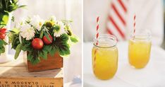 State Fair Decorations: Many states have their fairs in September. Celebrate early fall with a fair-themed bridal shower in bright colors. Pair cheerful daisies with fresh fruit to create dynamic centerpieces, and use lots of nostalgic details, such as striped straws and vintage crates.