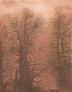 """By Dimitrina Kutriansky @EnaKutriansky: """"Twilight""""- #Silverpoint with Colored Pencil- #drawing #draw2live #art #fineart #followart- Please #rt if you like! pic.twitter.com/0G9Zl8TAOh"""