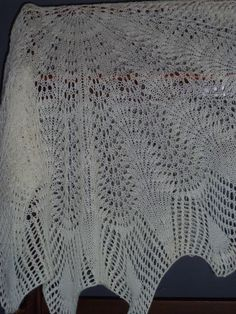 My Knitted Lace, Christening Shawl that was in my Etsy Shop.
