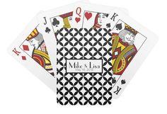 Black and White Wedding Couple Player Cards by ShelbyAnnGifts $14.95 #weddingfavor #weddingplayingcards #customweddinggift #weddingdeckofcards