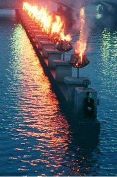 WaterFire in Providence, RI
