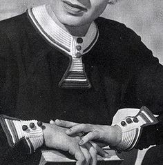Peasant Collar and Cuffs Pattern by Free Vintage Crochet