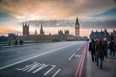 Sunset across Westminster by Lindsey Bucknor
