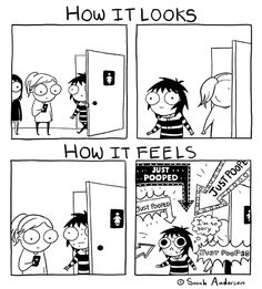 by Sarah Andersen/ toilet blushes
