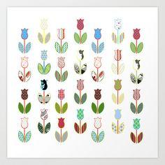 Tulips / 01 Art Print by MariskaART - $24.96