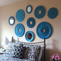 oh, how i love this! - ceiling medallions from the home