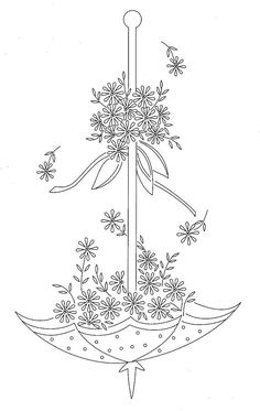 """Yesteryear Embroideries: """"I have a vintage umbrella embroidery design for you to try............"""""""