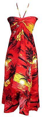 Sexy-Tropical-Hawaiian-Halter-Butterfly-Party-Cruise-Luau-Hibiscus-Dress-Sunset