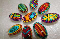 hand painted ceramic oval knobs-  $81