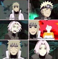NaruSaku on the war.Minato tell Sakura - You are Naruto girlfriend?MinaKushi JUST LIKE NaruSaku!