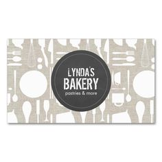 Tan Kitchen Collage with Rustic Gray Logo Bakery Double-Sided Standard Business Cards (Pack Of 100). This is a fully customizable business card and available on several paper types for your needs. You can upload your own image or use the image as is. Just click this template to get started!