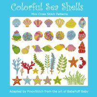 Colorful Sea Shells & Marine Life