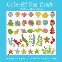 Colorful Sea Shells & Marine Life