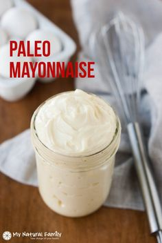 Paleo Mayonnaise Recipe - My world was transformed when I discovered Paleo mayo. I don't know how I ate Paleo for years without knowing about it. It's so versatile. I use it like ranch dressing on so many things. It's good for coleslaw and other mayo-type salads. It's good for salmon patties or chicken salad. It really helps me to not miss dairy so much.