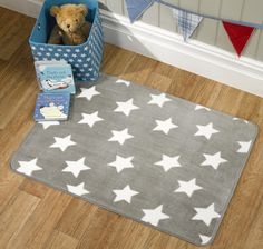 The Star Rug by the Flair Nursery collection will keep little toes cosy in truly soft textures. This Grey rug with a White Star print is washable and made with Acrylic pile providing a super soft velvet feel. Star Nursery, Nursery Rugs, Nursery Prints, Carpet Sale, Rugs On Carpet, Carpets, Grey And White Rug, Childrens Rugs, Star Rug