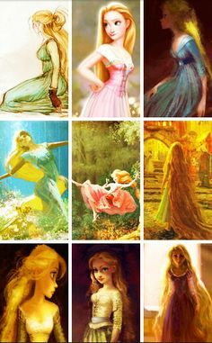 Tangled concept art~ Is it just me, or does the 5th one look like that painting from Frozen? (when Anna is singing For The First Time in Forever, and she's imitating the pictures)