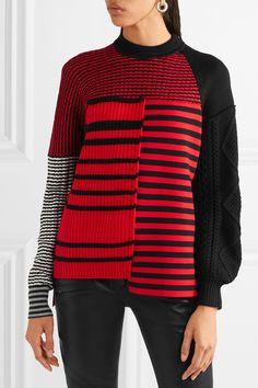 Sonia Rykiel | Paneled striped wool sweater | NET-A-PORTER.COM