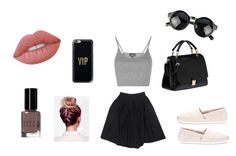 """""""Birthday look"""" by emilieantonsen on Polyvore featuring Topshop, Le Mont St. Michel, TOMS, Miu Miu, Casetify, Lime Crime and Bobbi Brown Cosmetics"""