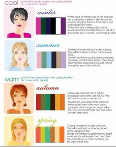 What's Your Color Palette? How to buy the fall wardrobe of your dreams – Care – Skin care , beauty ideas and skin care tips Skin Undertones, Warm Undertone, Neutral Skin Tone, Mature Women Fashion, Seasonal Color Analysis, Coaching, Fall Makeup, Cool Tones, Season Colors