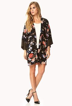 Down-to-Earth Kimono   FOREVER21 - 2000091999. the perfect casual/dressy kimono i have ever seen. crying because they no longer have my size D;