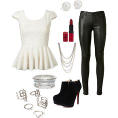 Classic by mahnoorfarooq on Polyvore featuring polyvore, fashion, style, Yves Saint Laurent, Blue Nile, Henri Bendel, Forever 21 and Rimmel