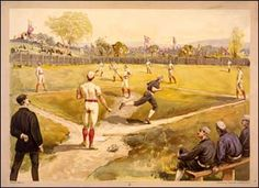 Origins of Native American Team Names, Part II Casey At The Bat, Baseball Scoreboard, Indians Baseball, Sports Images, The Outfield, Art Series, Library Of Congress, Team Names, Antique Prints