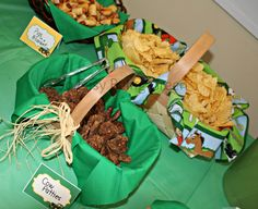 john deere birthday party food ideas | ... food in baskets with fabric lining. I came up with some fun food ideas