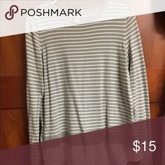 Loft sweater Beautiful striped sweater with a sheer button down tail LOFT Sweaters