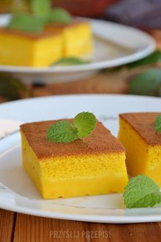 Czarodziejskie ciasto dyniowe Sweet Recipes, Cake Recipes, Food Cakes, Cheesecake, Food And Drink, Sweets, Cookies, Baking, Mango Desserts
