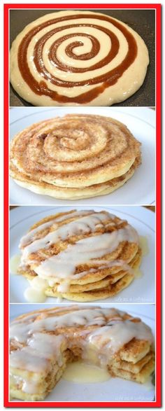 Cinnamon Roll Pancakes These Breakfast Quesadillas with bacon, egg and cheese ar. Cinnamon Roll Pancakes These Breakfast Quesadillas with bacon, egg and cheese are an easy breakfast or dinner idea your family is sure to Cinnamon Roll Pancakes, Cinnamon Rolls, Breakfast For Dinner, Breakfast Recipes, Bacon Breakfast, Breakfast Ideas, Pancake Recipes, Pregnancy Breakfast, Waffles