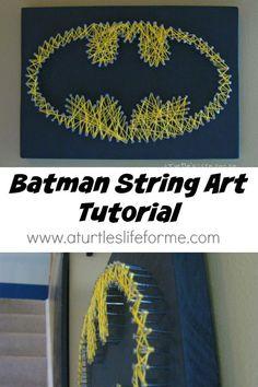 How to Make Cool Batman DIY String Art | http://www.jexshop.com/