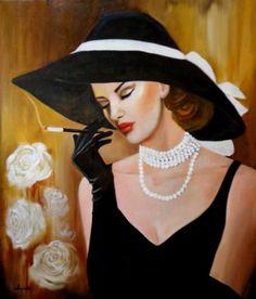 "Saatchi Art Artist Anna Rita Angiolelli; Painting, ""Smoke"" #art"