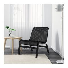 IKEA - NOLMYRA, Chair, black/black, , The armchair is lightweight and easy to move if you want to clean the floor or rearrange the furniture.10-year limited warrranty. Read about the terms in the limited warranty brochure.