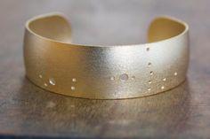Scorpio Gold Plated Constellation Cuff by JulieNolanJewelry