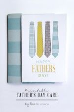 Printable Fathers Day Card + Envelope