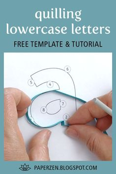 Start quilling all the letters of the alphabet!Quilling Lowercase Letters E-book, 26 Patterns and Templates for Quilling the Alphabet Paper Quilling For Beginners, Paper Quilling Tutorial, Paper Quilling Patterns, Paper Quilling Jewelry, Origami And Quilling, Quilled Paper Art, Quilling Paper Craft, Quilling Techniques, Paper Crafts
