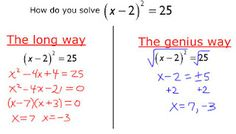 A lesson plan that has great tips for teaching how (and why) to complete the square when solving quadratic equations
