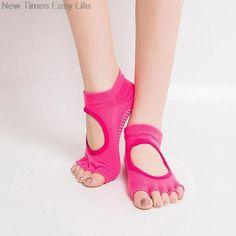 Non Slip Cotton Half Toe Backless Yoga Socks    https://zenyogahub.com/collections/yoga-socks/products/non-slip-cotton-separated-5-half-toe #yogasocks